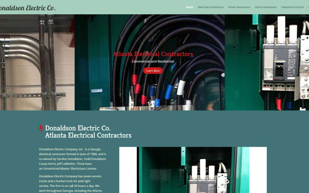 Donaldson Electric Company Website Design