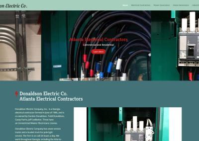 Donaldson Electric Company Website Design