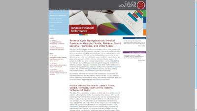 Galen Advisors Website Design