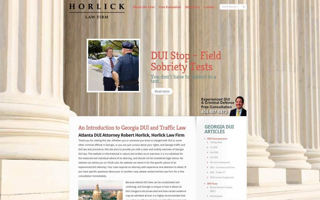 Horlick Law Firm Website Design