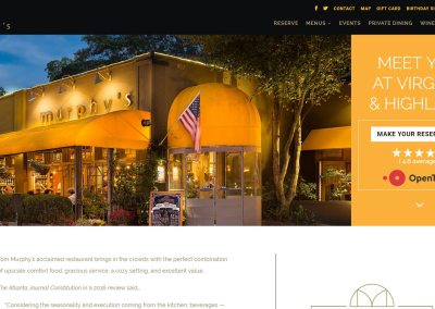 Murphy's Restaurant Website Design