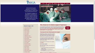 North Atlanta Surgical Associates Website Design