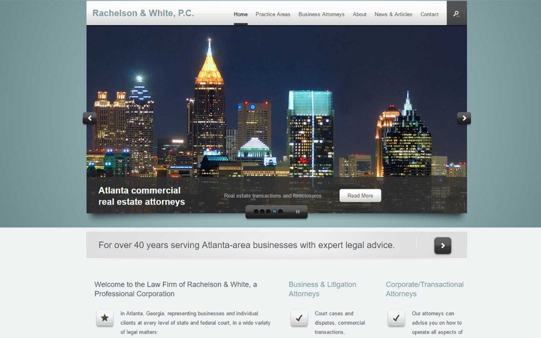 Rachelson & White Website Design