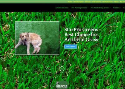 StarPro Greens Website Design