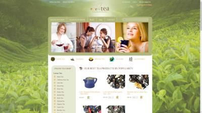 EZenTea.com Website Design