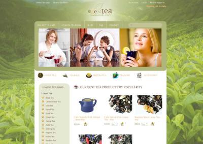 EZenTea.com Website Design