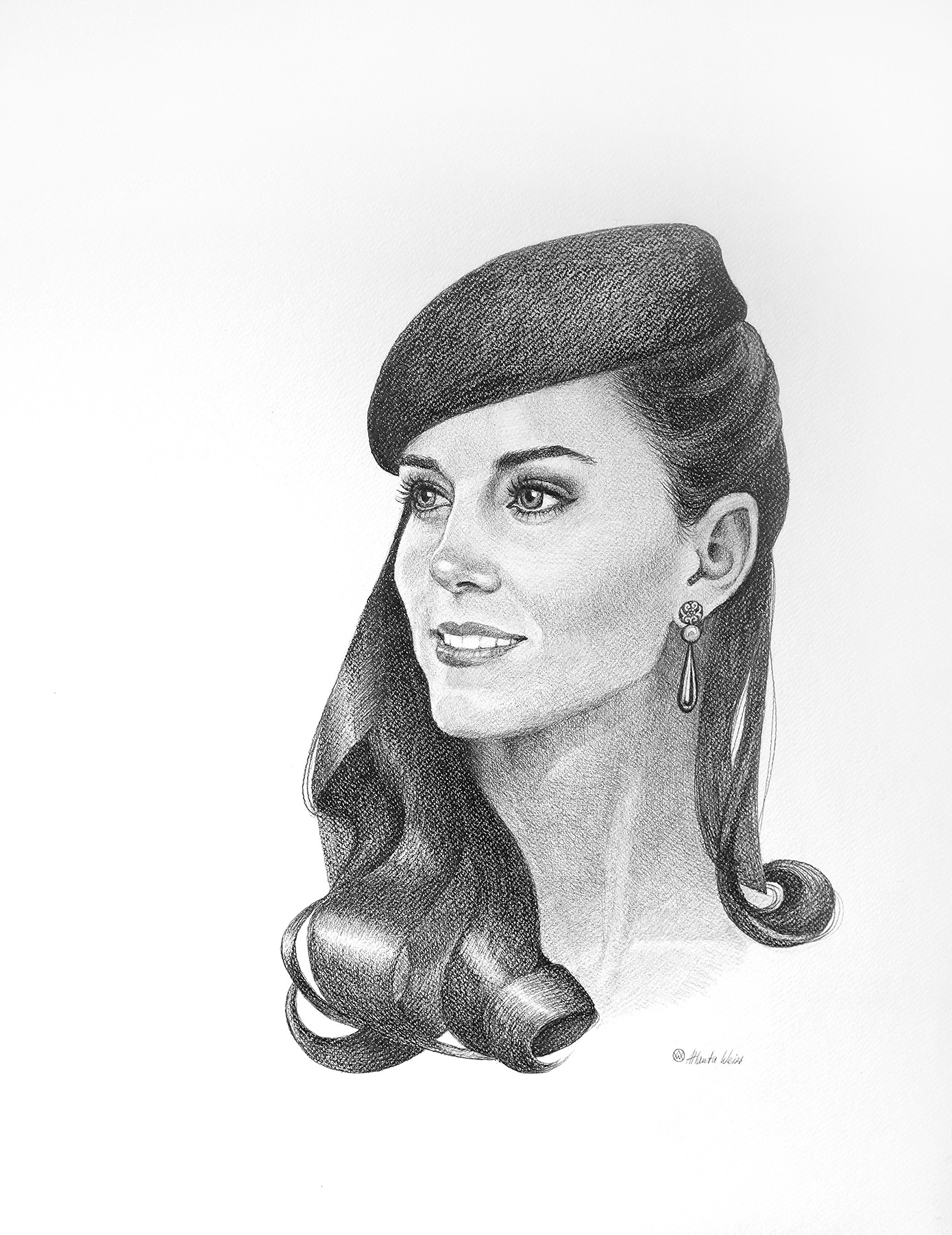 Example of a commissioned drawing by Atlanta Weiss