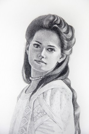 Example of a portrait commission drawing by Atlanta Weiss