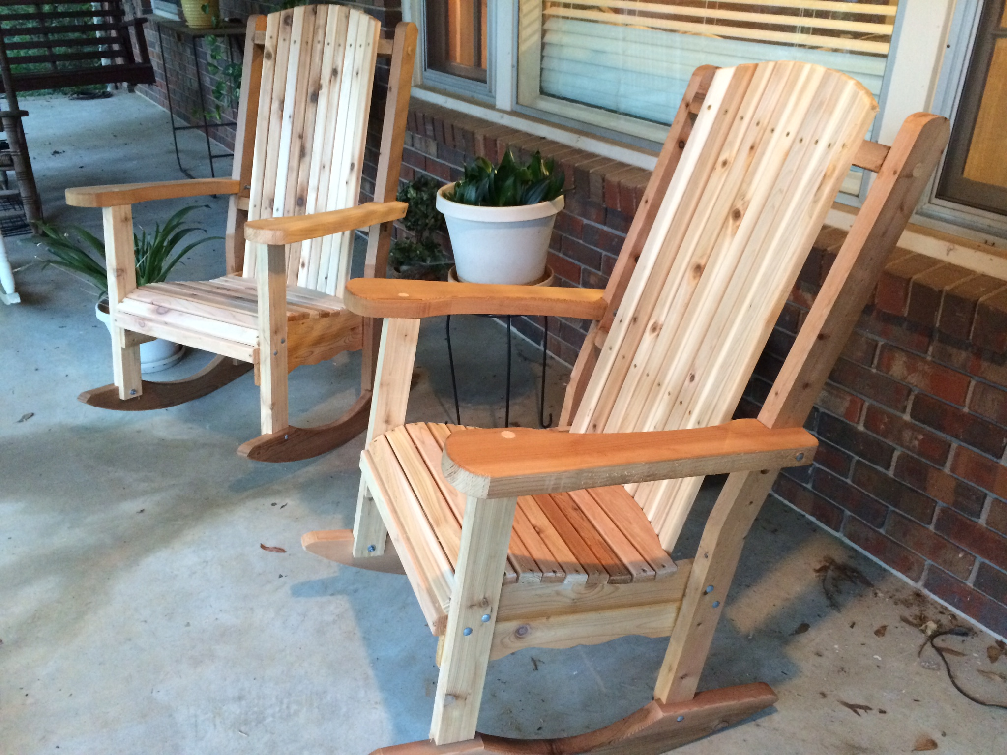 cedar rocking chairs exercise desk chair atlanta woodworking