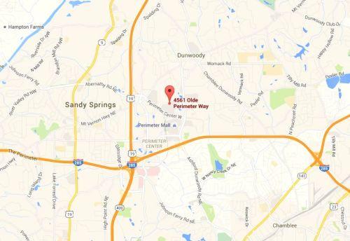 The Manhattan Condo In North Atlanta GA Map Location