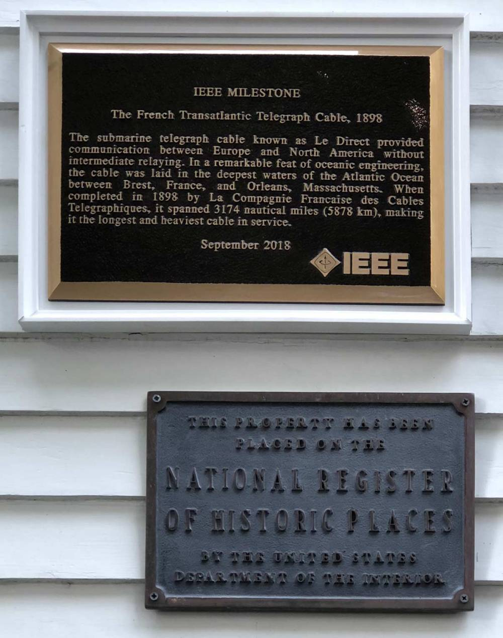 medium resolution of the milestone plaques one in english and one in french were installed one on each side of the main entrance to the museum where they joined the original