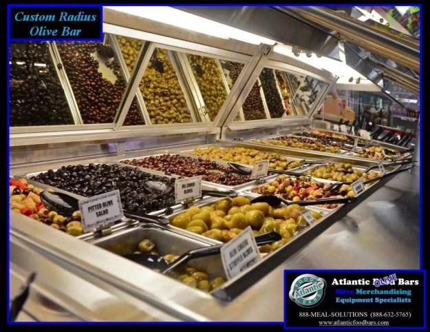 Atlantic Food Bars - Custom Radius Refrigerated Olive Bar 2