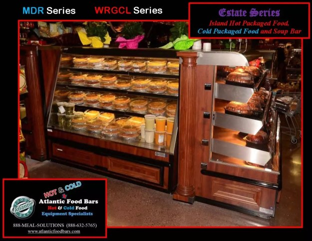 Atlantic Food Bars - Estate Series Custom Hot and Cold Packaged Food Island with Soup Bar 4
