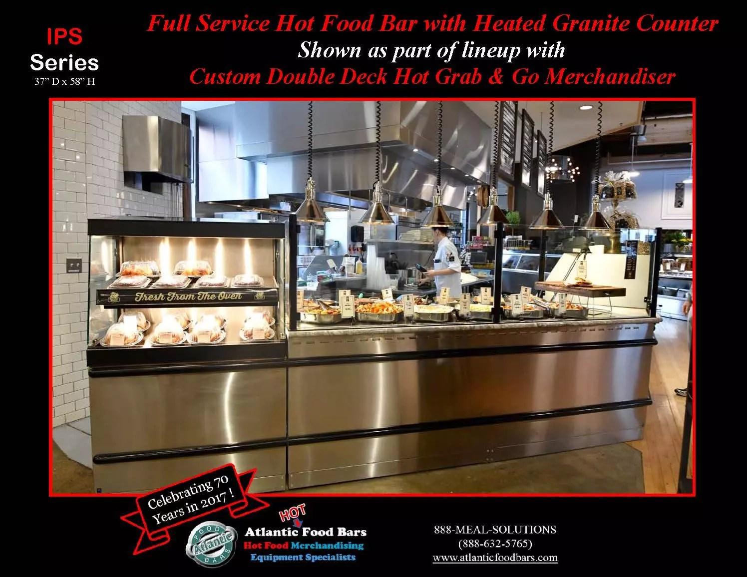 Atlantic Food Bars - Full Service Hot Food Bar with Heated Granite Counter - IPS