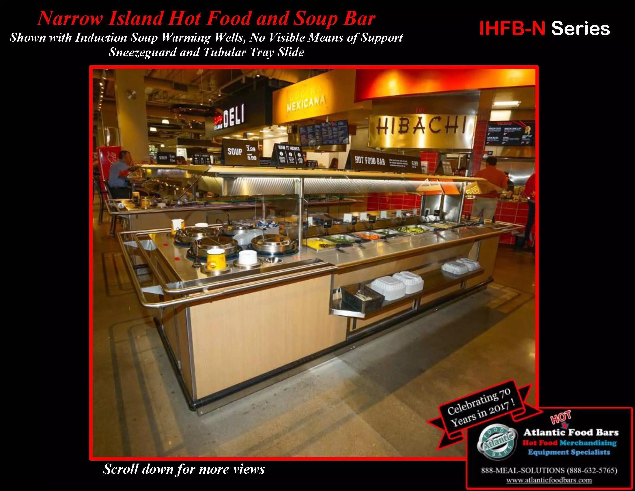 Atlantic Food Bars - Narrow Island Hot Food and Soup Bar - IHFB-N