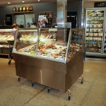 Iced Stone Crab Merchandiser with Column Notch - Custom Mobile Display - Atlantic Food Bars 1