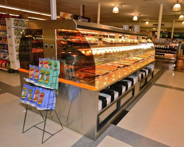 Custom Nantucket - Combination Island with Hot Packaged Food Over Hot Bulk Food, Hot Soup and Salad Bar - Atlantic Food Bars 2