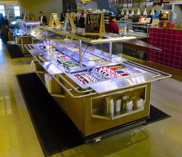 Narrow Island Salad Bar with Tray Slide - Atlantic Food Bars - ISBN8744-TS 1