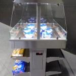 Next Gen Mobile Packaged Hot Food Merchandiser - Single Level - Atlantic Food Bars - HH3625-NG 1a