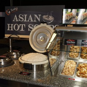 Self Service End Cap Hot Food Bar with Soup Wells and Rice Cooker - Atlantic Food Bars - HFB14434-SBM 4