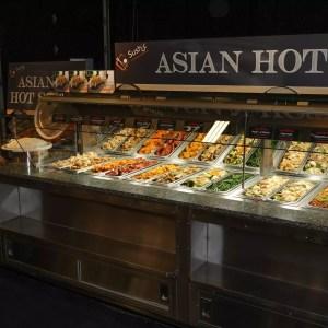 Self Service End Cap Hot Food Bar with Soup Wells and Rice Cooker - Atlantic Food Bars - HFB14434-SBM 5