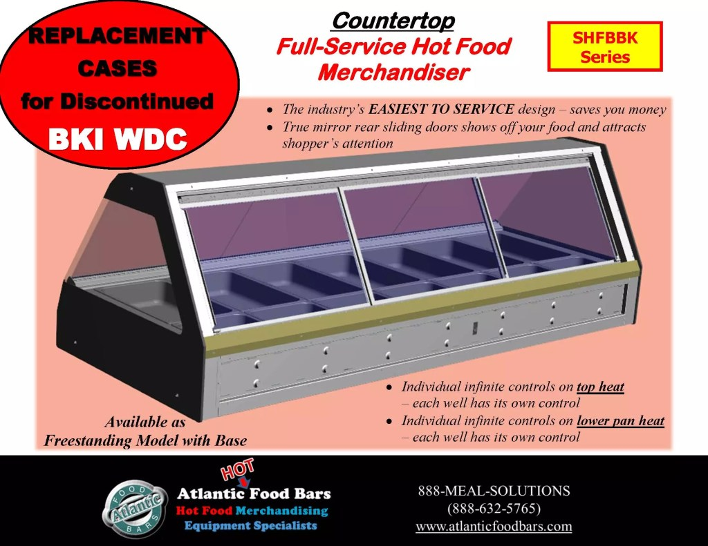 Atlantic Food Bars - Full Service Hot Food Bar with Modules and Options - Countertop and Freestanding Base Model - SHFBBK Presentation for Discontinued BKI WDC_Page_02
