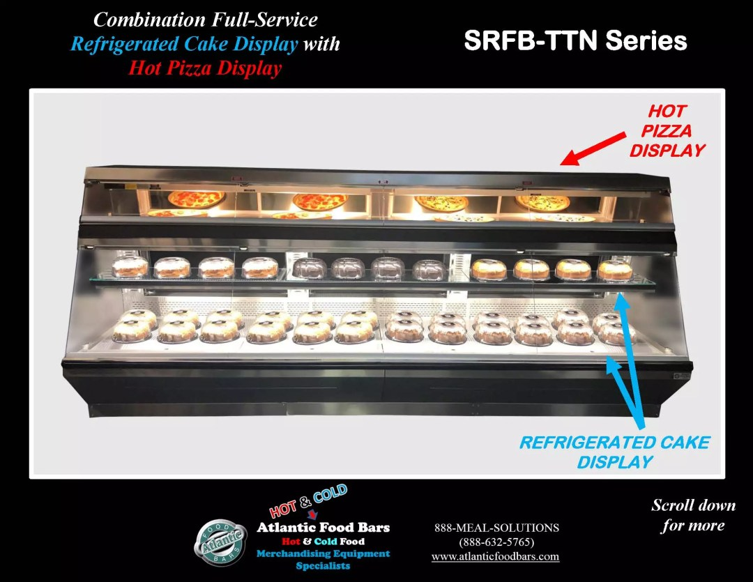 Atlantic Food Bars - Combination Full-Service Refrigerated Cake Display Case with Full Service Hot Pizza Display - SRFB-TTN14440_Page_1