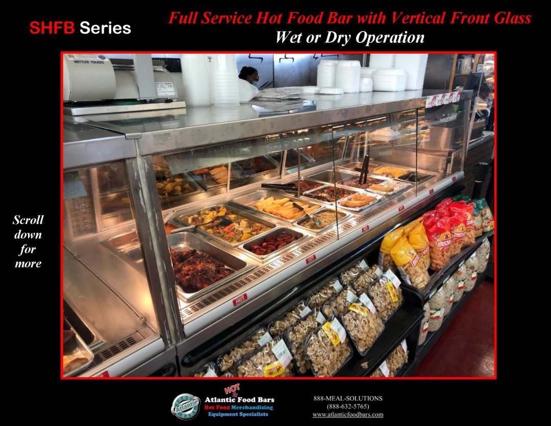 Atlantic Food Bars - Full Service Hot Food Bar with Vertical Front Glass - Wet or Dry Operation - SHFB_Page_2