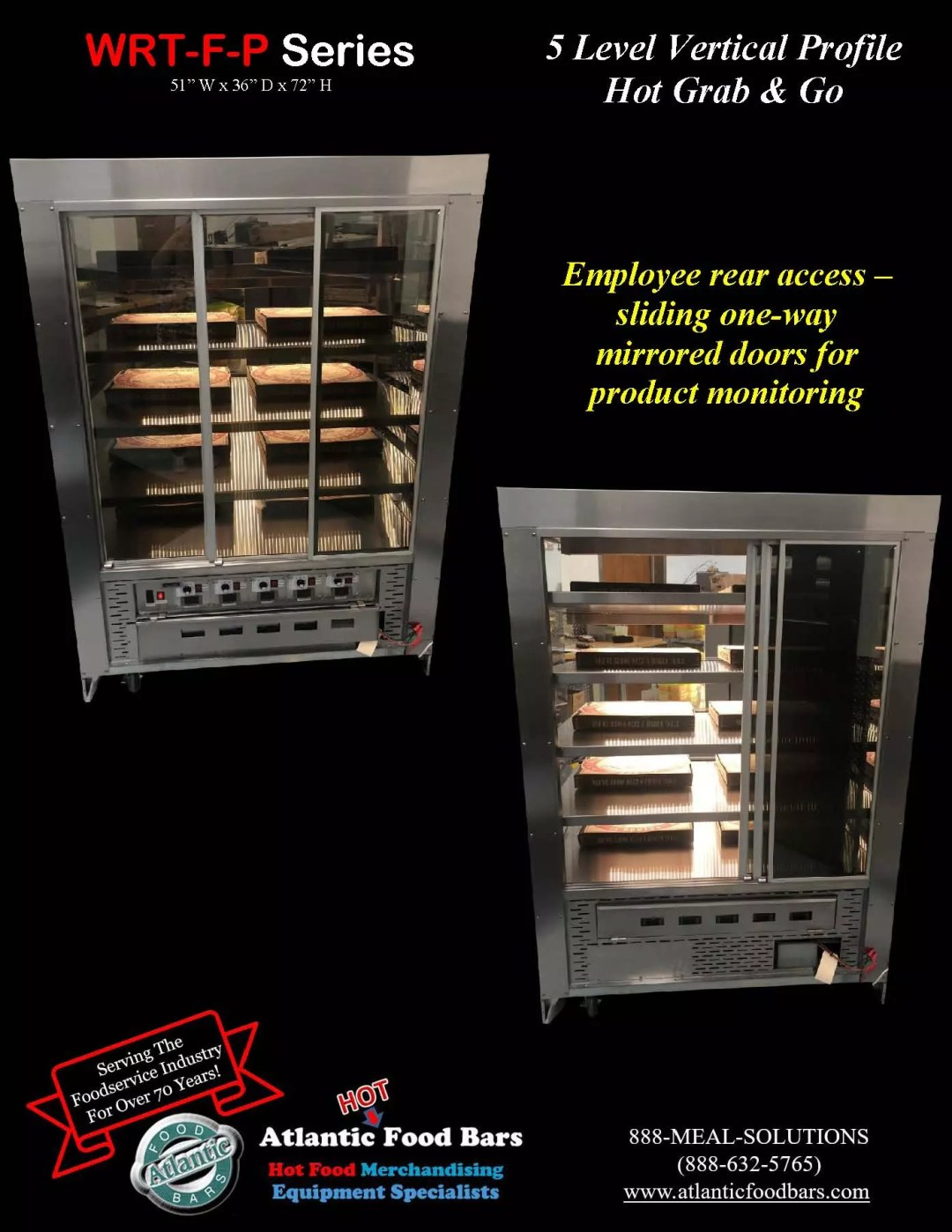 Atlantic Food Bars - 5 Level Vertical Profile Hot Grab and Go Pizza Wrangler - WR5136T-F-P_Page_3