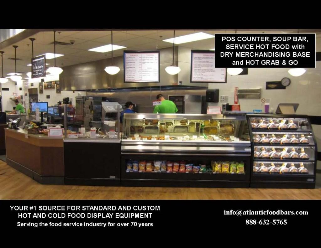 Atlantic Food Bars - Easily Convertible Full to Self Service Hot Food Merchandiser - Countertop or Freestanding Base Model - SHFBBK Series 1
