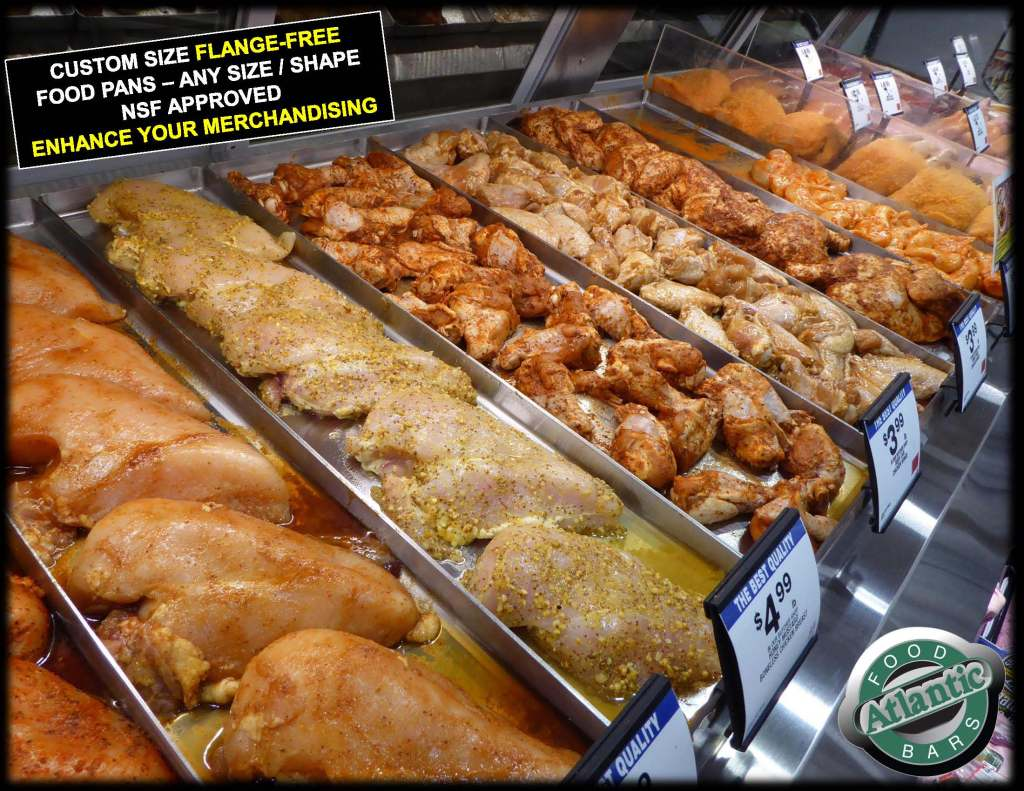 Atlantic Food Pans - Custom Sized Flange Free Meat and Seafood Pans - Available with NSF Approved Rounded Corners 1