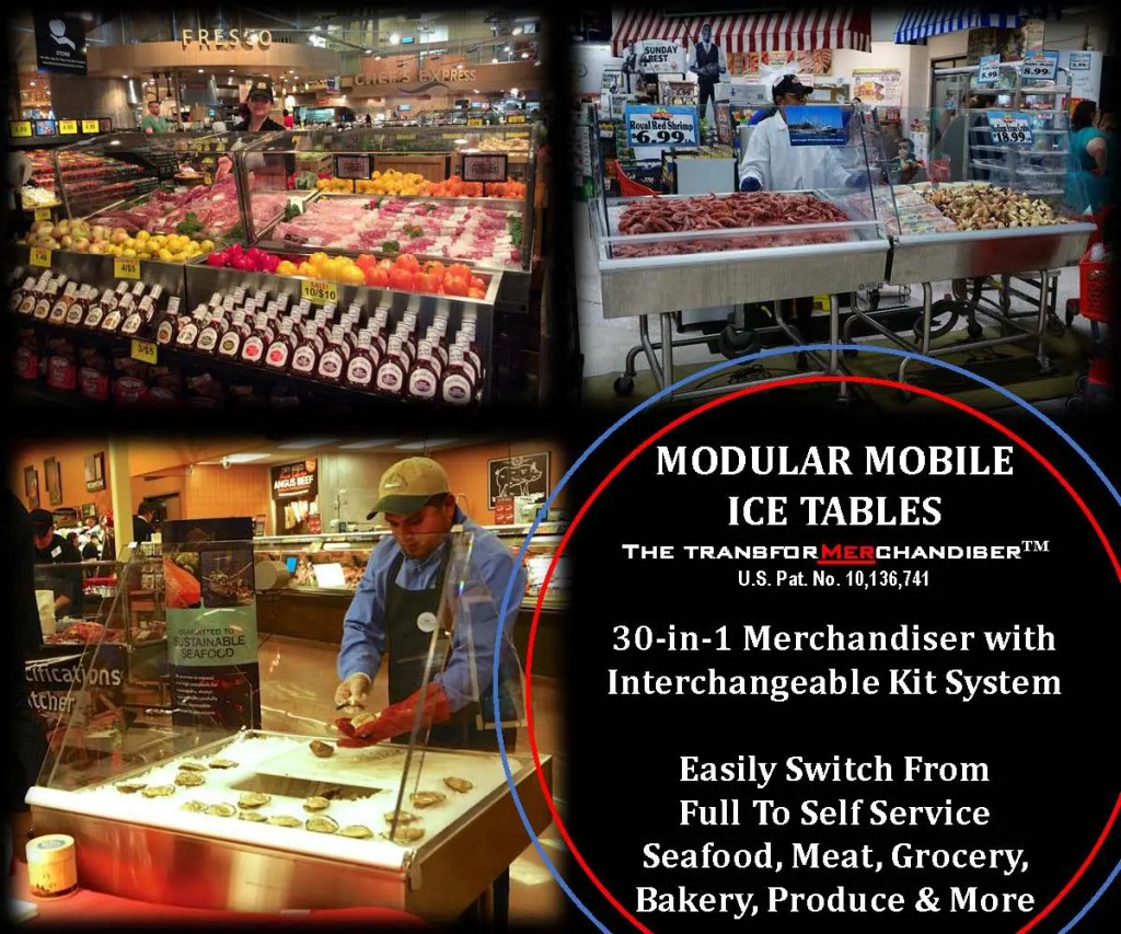 Atlantic SEAFood Bars - Fresh Seafood Merchandising Ideas - Guaranteed Leak Proof 3