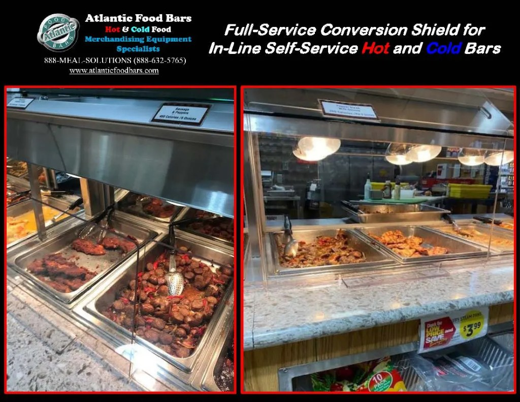 Atlantic Food Bars - The Shield - Lexan Full Service Conversion Kit for In-Line Cold and Hot Food Bars - AST_Page_2