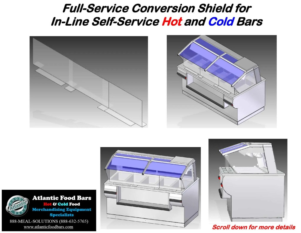 Atlantic Food Bars - The Shield - Lexan Full Service Conversion Kit for In-Line Cold and Hot Food Bars - AST_Page_4