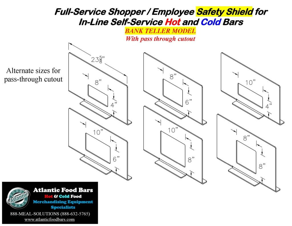 Atlantic Food Bars - The Shield - Lexan Full Service Conversion Kit for In-Line Cold and Hot Food Bars - AST_Page_8