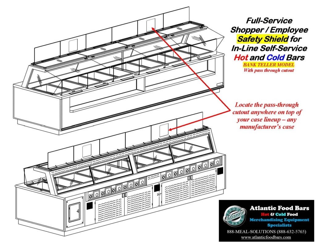 Atlantic Food Bars - The Shield - Lexan Full Service Conversion Kit for In-Line Cold and Hot Food Bars - AST_Page_9