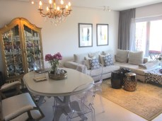 Portman Place 1 bedroom Apartment Bantry Bay bedroom Atlantic Letting luxury Holiday accommodation rental property Cape Town dining table image
