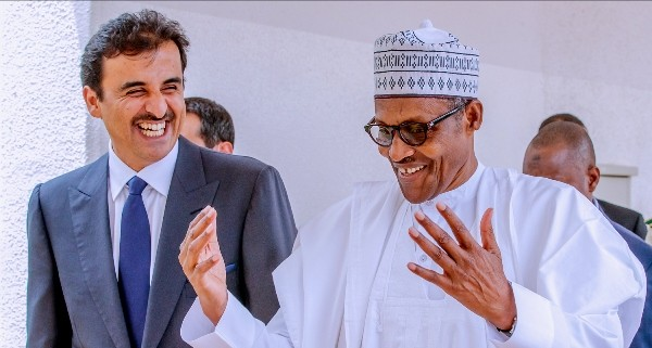 Emir Of Qatar Visits Buhari In Aso Rock All Suited Up