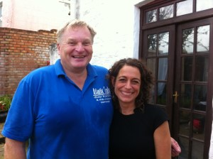 Mark Milburn with Alex Polizzi