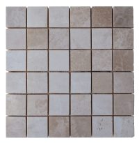 Botticino Beige Polished Marble Mosaic Tiles 2x2 - Natural ...