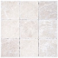 Botticino Beige Tumbled Marble Mosaic Tiles 4x4 - Natural ...