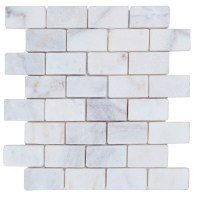 Imperial White Tumbled Marble Mosaic Tiles - Atlantic ...