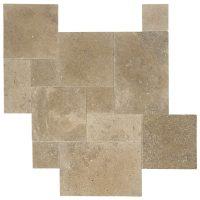 Noce Tumbled French Pattern Travertine Tiles | Atlantic ...