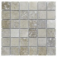 Noce Tumbled Travertine Mosaic Tiles 22 | Atlantic Stone ...
