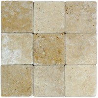 Noce Tumbled Travertine Mosaic Tiles 44 | Atlantic Stone ...