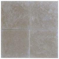 Lito Medium Honed Filled Travertine Tiles 18x18 - Natural ...