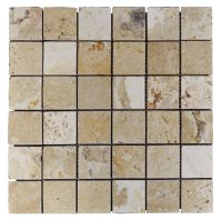 Leonardo Tumbled Travertine Mosaic Tiles 22 | Atlantic ...