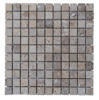 Noce Travertine Tumbled Mosaic Tiles 1x1 - Natural Stone ...