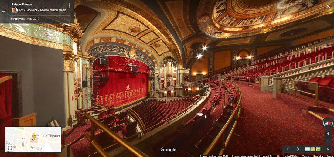 Palace Theater Stage from Balcony