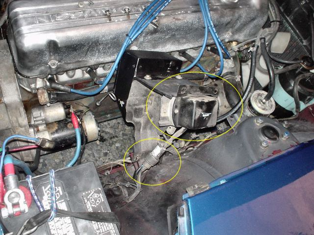 280zx Alternator Wiring Diagram Here Is The Bracket Removed You Can See The Voltage